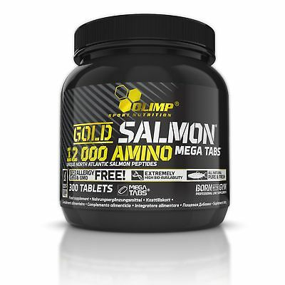 OLIMP Gold Salmon 12000 Amino 300 Tabletten SPH, ProGo™ Lachsproteine