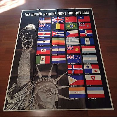 The United Nations Fight For Freedom (Original WWII Poster)