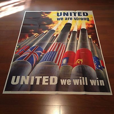 United We Are Strong! Original World War II Poster (40 x 56 inches) Very Rare!