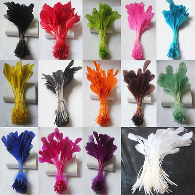 gooses tripped feathers 6-8 inches / 15-20 cm 14 colors /Millinery/Clothing