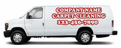 HUGE carpet cleaning decal set.Each side and rear. Choice of color truck mount