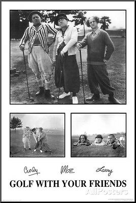 9142 24x36 SHRINK WRAPPED DRINK YER SELF STOOPID POSTER THREE STOOGES