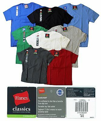 48 Hanes Boys T-Shirts $1.50 Per Shirt- Mixed Colors & Sizes Pre-Priced $12.00*