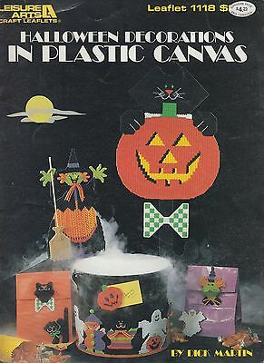 Leisure Arts Halloween Decorations in Plastic Canvas pattern book copyright 1987