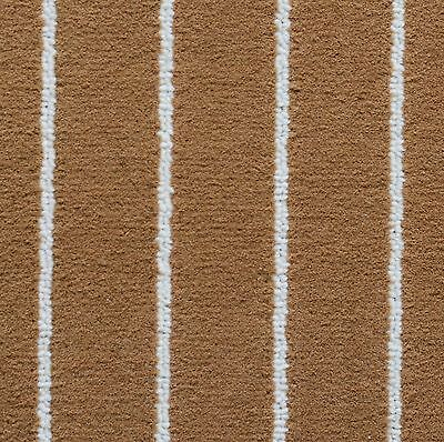 100% Australian made Quality marine carpet, Teak/ Cream Colour