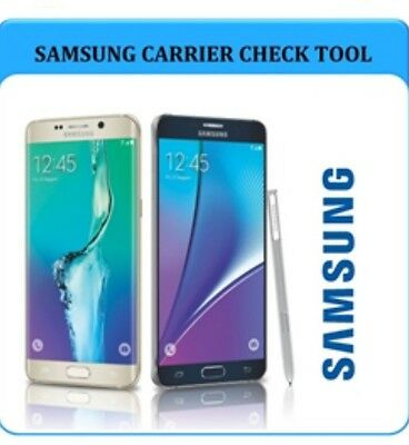 SAMSUNG Galaxy S9 S8 plus S7 S6 Edge S5 A3 A5 J3 J5 iPhone Network Carrier Check