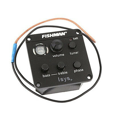 FISHMAN ISYS+ Acoustic Guitar Pickup Piezo onboard Preamps EQ Tuner Equalizer