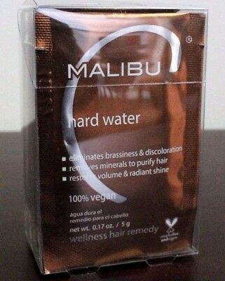 New Package of Malibu C Hard Water Demineralizer Treatments~12 Pack~Going Fast
