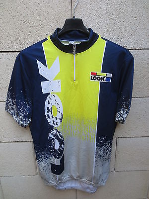 VINTAGE Maillot cycliste LOOK cycling shirt maglia ciclismo jersey 4 L 50 Biemme