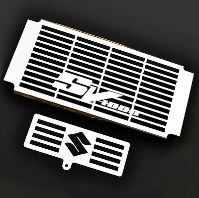 Suzuki Sv1000 (03-08 )Stainless Steel Radiator Cover + Oil Cooler Grill Guard