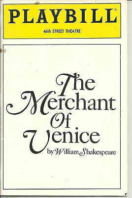 Playbill The Merchant of venice 46th Street Theatre Feb 1990 FREE SHIPPING []