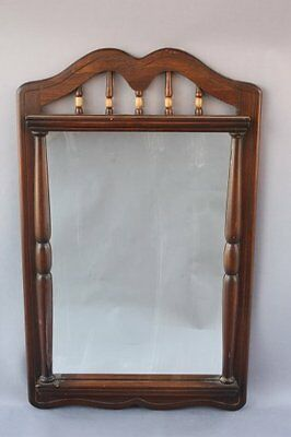 1930s Rancho Monterey Signed Wooden Mirror California Antique Vintage (7717)