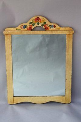 1930s Rancho Monterey Hand Painted Mirror California Antique Home Decor (7712)