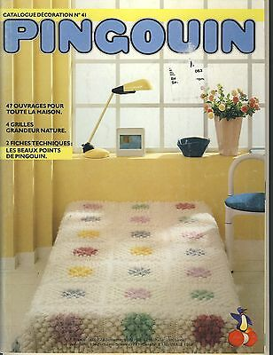 Pingouin knit & crochet home decor pattern book - French instructions only