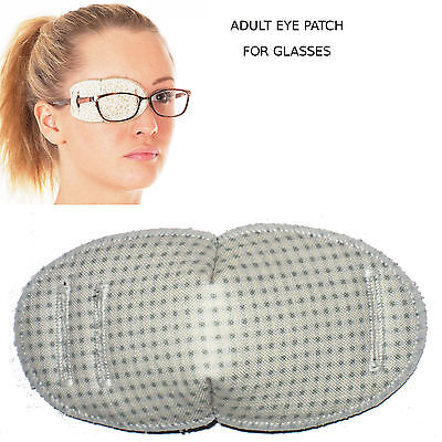 Medical Eye Patch for Glasses, REGULAR, TINY SQUARES Soft and Washable Fabric