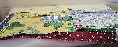 Longaberger Six Fabric Sample Great  For Quilters And Crafters