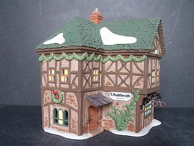 """Dept 56 Dicken's Village """"t. Puddlewick Spectacle Shop"""" - New In Box"""