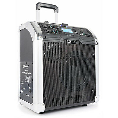PA-203 Power Dynamics Portable PA with Mic and Bluetooth MP3 Player Public Ad...
