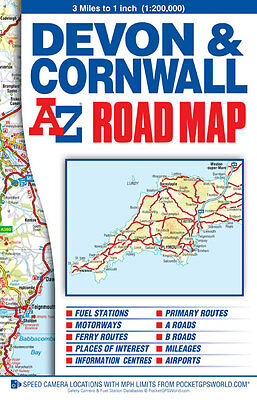 Devon & Cornwall Road Map by A-Z Map Company (Sheet map, Folded)