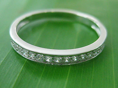 """100% REAL 925 sterling silver """"2mm Cz Wedding Band"""" Big Size 4.5 to 13 US - GIRL"""