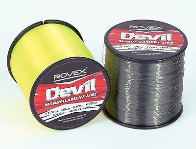 Rovex Devil Monofilament Sea Fishing Line 1/4lb Bulk Spools