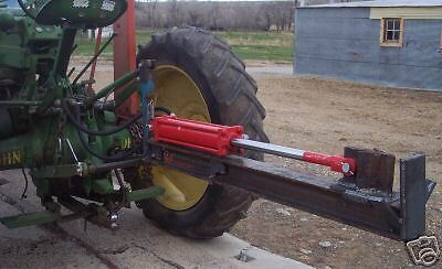 Plans for a 3pt hitch tractor mounted log splitter,splits vertical or horizontal