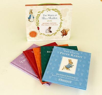 The World Of Peter Rabbit Beatrix Potter The Classic Collection 5  Books New