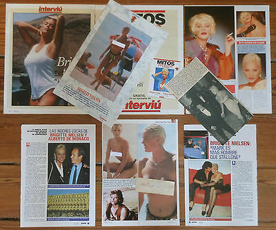 BRIGITTE NIELSEN spanish clippings 1980s/90s photos sexy nude magazine pictures