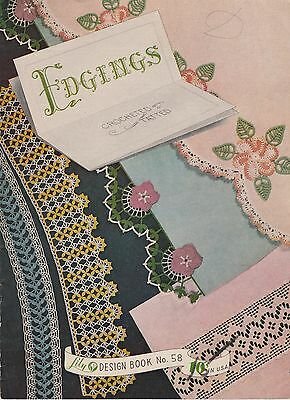 Lily Edgings vintage 1951 crochet and tatting patterns