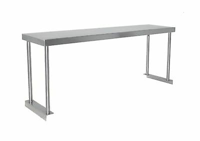 Commercial Kitchen Stainless Steel Single Overshelf for Work Tables 18X60