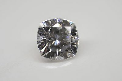 Charles and Colvard Forever One DEF Moissanite 6mm Cushion With Certificate