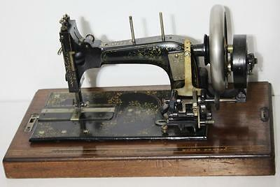 1870 ANTIQUE FRISTER & ROSSMANN Hand Crank Sewing Machine -FREE Postage [PL1587]