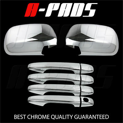 For Toyota Sienna 2010 Chrome Mirror Cover & 4 Doors Handles Covers