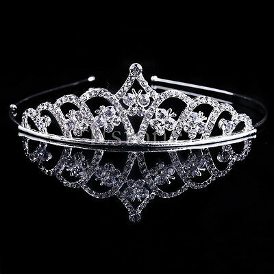 Bridal Wedding Rhinestone Crystal Hair Headband Crown Comb Tiara Pageant Prom