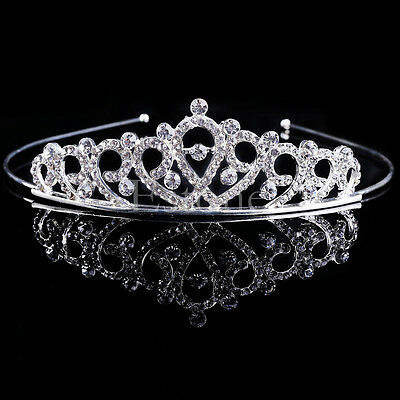 Wedding Bridal Crystal Rhinestone Headband Crown Tiara Prom Pageant Hairband New