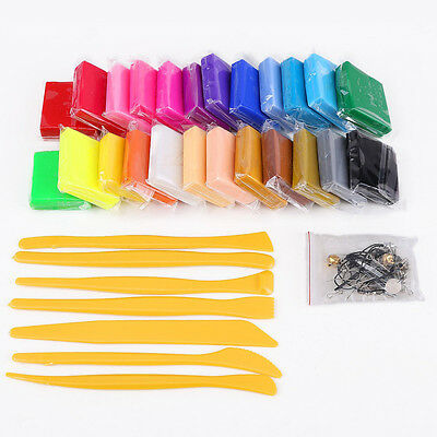 24 colors Pate polymer modeling tools + + accessory ED