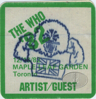 The WHO 1982 Farewell Tour Backstage Pass Toronto