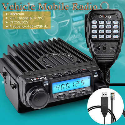 Durable Pofung BF-9500 Mobile Radio+USB Cable for Mini Car 2 way radio
