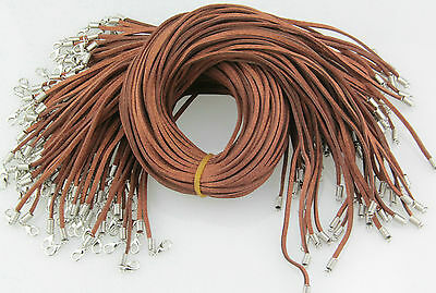 Wholesale Bulk 10 pcs Brown Suede Leather String 20 inch Necklace Cords