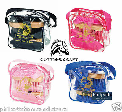 Cottage Craft Childrens Kids Junior Grooming Kit With Bag, Horse, Pony,  KIT10
