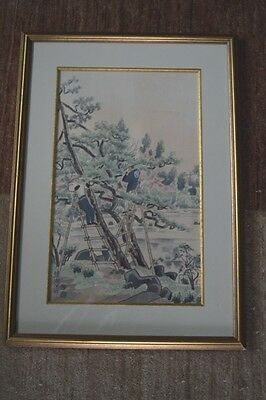 Original, signed Japanese watercolor