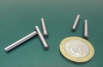 "Steel Taper Pins No. 0 .156 Large End x .135 Small End x 1.0"" Long, 50 Pcs"