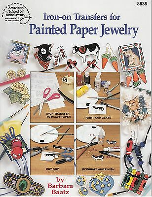 Iron-On Transfers for Painted Paper Jewelry pattern book copyright 1994