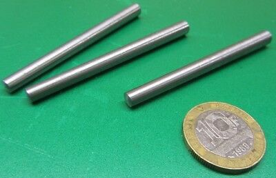 "Steel Taper Pins No. 4 .25 Large End x .193 Small End x 2 3/4"" Long, 20 Pcs"