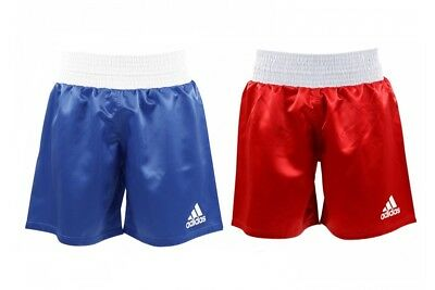 Adidas Satin Boxing Shorts Red Blue Amateur Pro Adults Kids Mens XXS-XXL