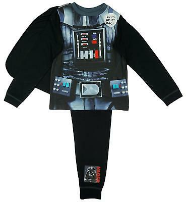 Boys Official Star Wars Darth Vader Costume Pyjamas with Cape 2 to 8 Years