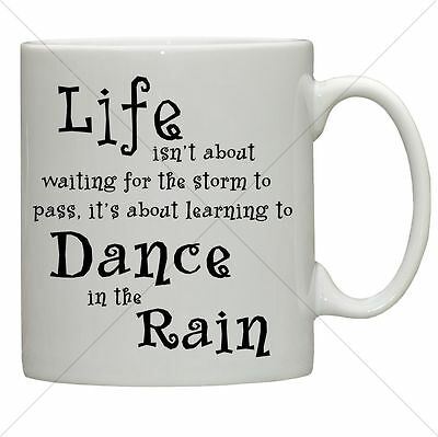 Life Dance In The Rain Quote Black And White Art Print Picture Gift