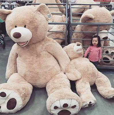 """ONE PCS79""""/200cm HUGE SUPER TEDDY BEAR(ONLY COVER) PLUSH TOY SHELL (WITH ZIPPER)"""