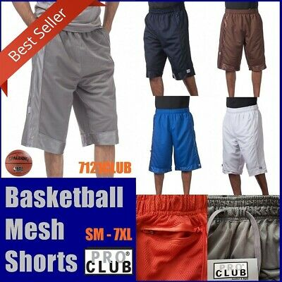 PRO CLUB MESH BASKETBALL SHORTS ProClub Men's Heavyweight Jersey Gym Short S-7XL