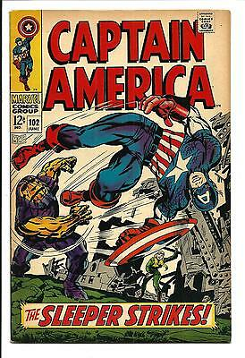 CAPTAIN AMERICA # 102 (THE SLEEPER c/s. JUNE 1968), VF